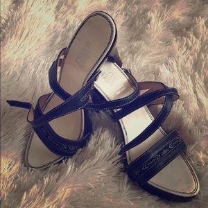 Gianni Versace wooden heels sz 38